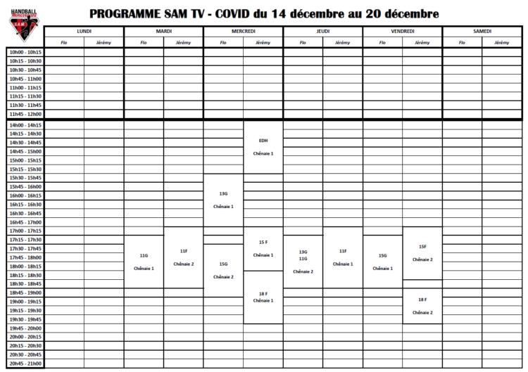 planning jeunes 14 au 20 décembre